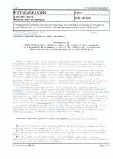 Hotărârea Nr. 24/2020
