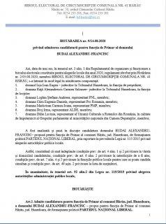 HOTĂRÂREA nr. 9/14.08.2020