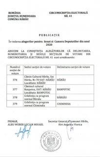 """Publicatie """"Sectiile de votare din Circumscripția Electorală nr. 41"""""""